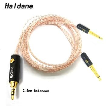 Free Shipping Haldane 8cores Replacement Headphones Cable Audio Upgrade Cable For Meze 99 Classics/Focal Elear Headphones