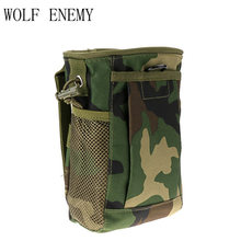 Military Taille Molle Pack Waffen Tactics Outdoor Sport Tasche Jagd Folding Mag Recovery Dump Kleine Beutel(China)
