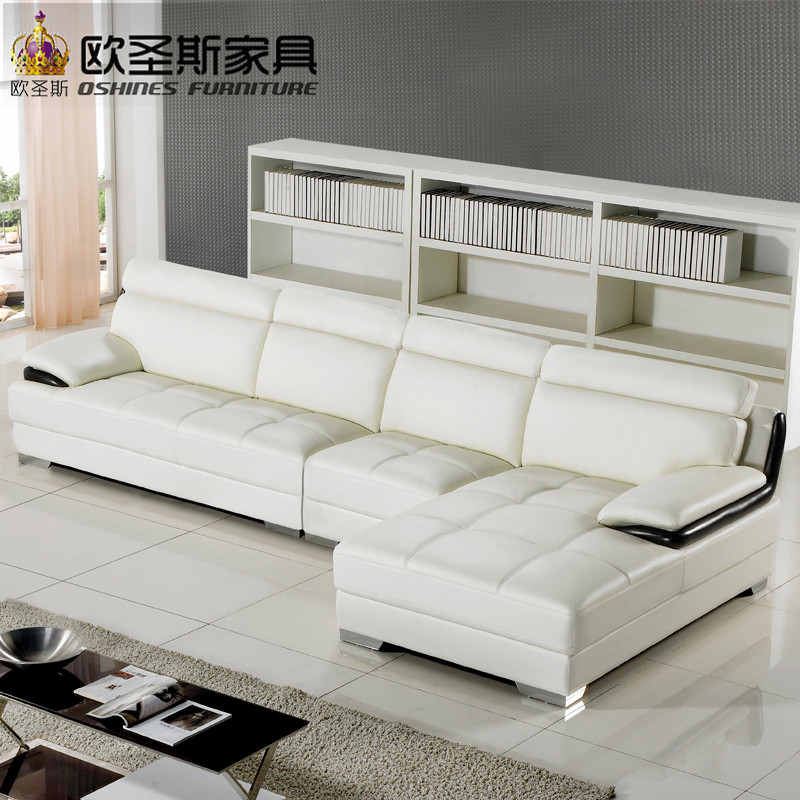 Cheap U Shaped Sofa Low Cost Modern Corner Leather Sofa: New Model L Shaped Modern Italy Genuine Real Leather