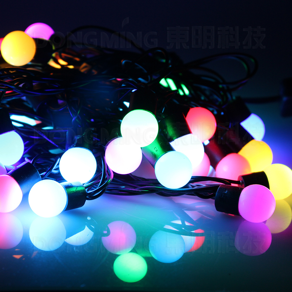 china factory 6m 40led rgb 8w multi color 220v led ball string fairy garland christmas light for holidaypartydecoration in led string from lights - Ball Christmas Lights