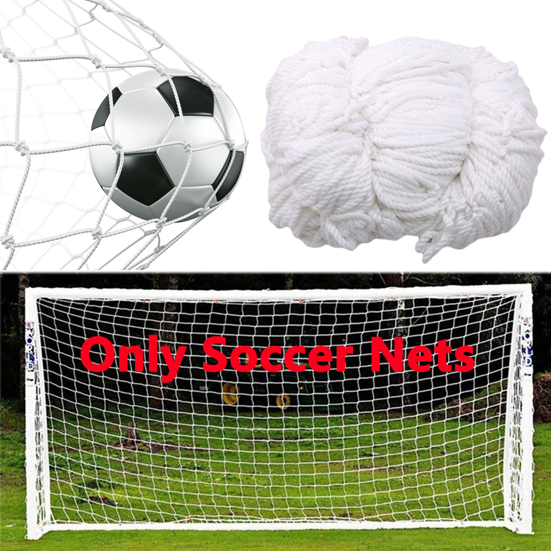 Football Training Nets Soccer Net Full Size Football Goal Net Polypropylene For Gates Soccer Training Outdoor Sports (Nets Only)