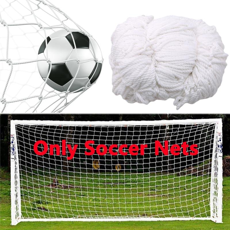 Football Training Nets Soccer Net Full Size Football Goal Net Polypropylene For Gates Soccer Training Outdoor Sports (Nets Only)