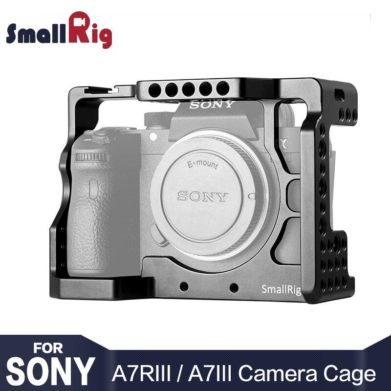 SmallRig Caméra Cage pour Sony A7R III/A7M3/A7 III Avec Arri Localiser Trou 4/1 8/3 Fils trou pour Caméra Rig Extension 2087
