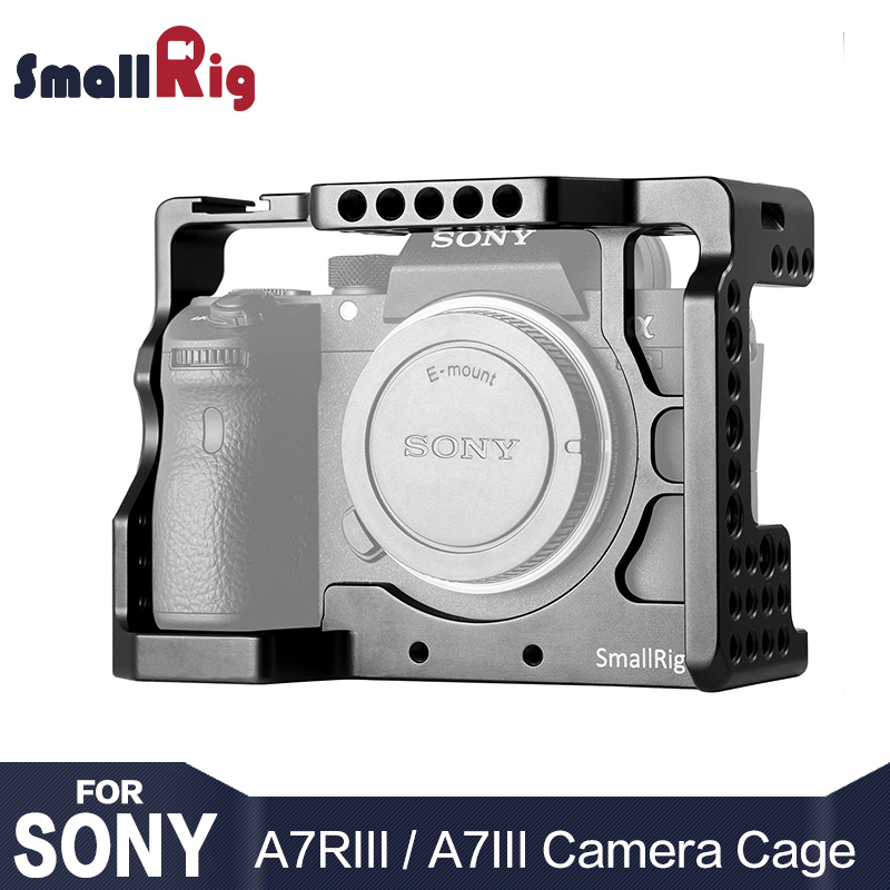 цена на SmallRig DSLR A73 Cage A7R3 Camera Cage for Sony A7R III / A7M3/ A7 III With Arri Locating Hole 4/1 8/3 Threads hole 2087