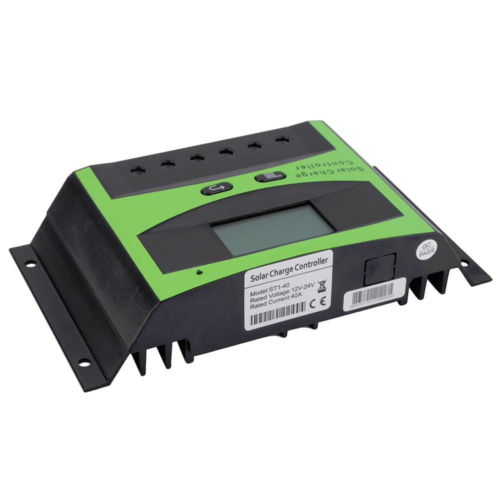 New LCD 40A 12V/24V Autoswitch Solar Panel Battery Regulator Charge Controller Promotion