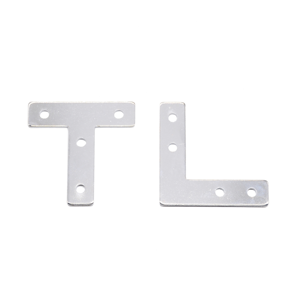 Hotsale 2020 L Type T Type Cross Plate Aluminum Connector EU Standard 20/30/40 Series Industrial Aluminum Profile Accessories 3D