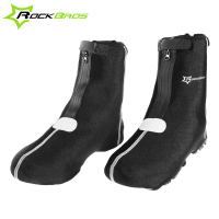 ROCKBROS Waterproof Cycling Shoe Covers Polyester Mountain Road Bike Riding Warm Lock Shoes Over Outdoor Bicycle