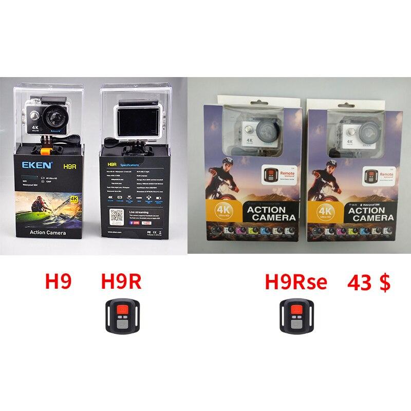 EKEN H9 H9R H9Rse Ultra FHD 4 k 25FPS Wifi Camera Action 30 m étanche mini 1080 p 60fps sous-marine aller À Distance pro sport cam