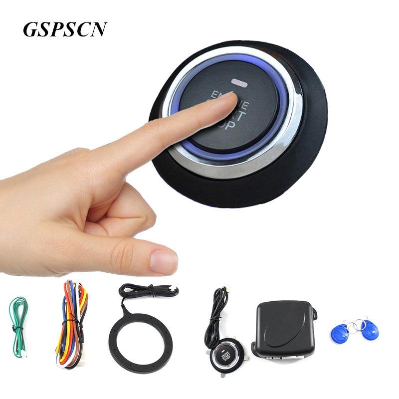 Keyless Entry Car Push Start Button Rfid Lock Engine: GSPSCN Car Engine Push Start Button RFID Engine Lock