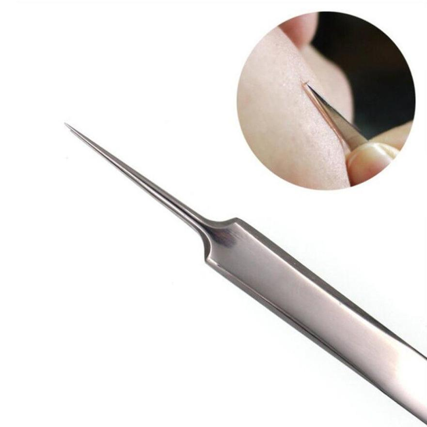 womens fashion Stainless steel 3pcs Curved Blackhead Comedone Clip Needle Tweezers Pimple Extractor Remover Drop Shipping 1A6