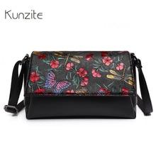 Kunzit Marke Mode Druck Blume Luxus Handtaschen Frauen Taschen 2017 Designer Crossbody Taschen Vintage Sac Ein Haupt Femme De Marque