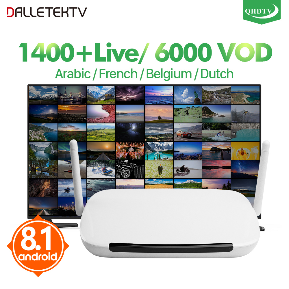 IPTV France Q9 Android 8.1 TV Box TV Modtager IPTV Box 1 År QHDTV Abonnementskode Arabisk Fransk Belgien Holland Holland IP TV
