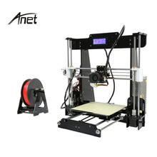 2018 Best Selling DIY High Precision 3D Printer Anet A8 Normal and Auto Leveling 3d Printer Kits Large Printing Size 22*22*24CM