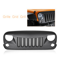 Car Front Bmuper Mesh Grille Rugged Insect Grill For Jeep Wrangler JK 2007 2008 2009 2010 2011 2012 2013 2014 2015 2016 2017