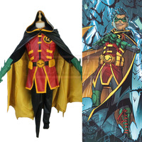Batman Red Robin Superhero Damian Wayne Cosplay Costume Custom Made Free Shipping