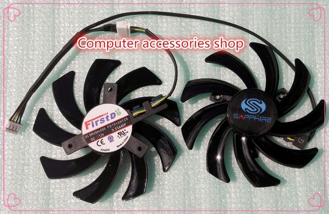 New original 2pcs/lot 85mm FD7010H12S Graphics card cooling fan for Sapphire HD6850 HD6970 HD7870 2G HD7950 HD7970 12V 0.35A