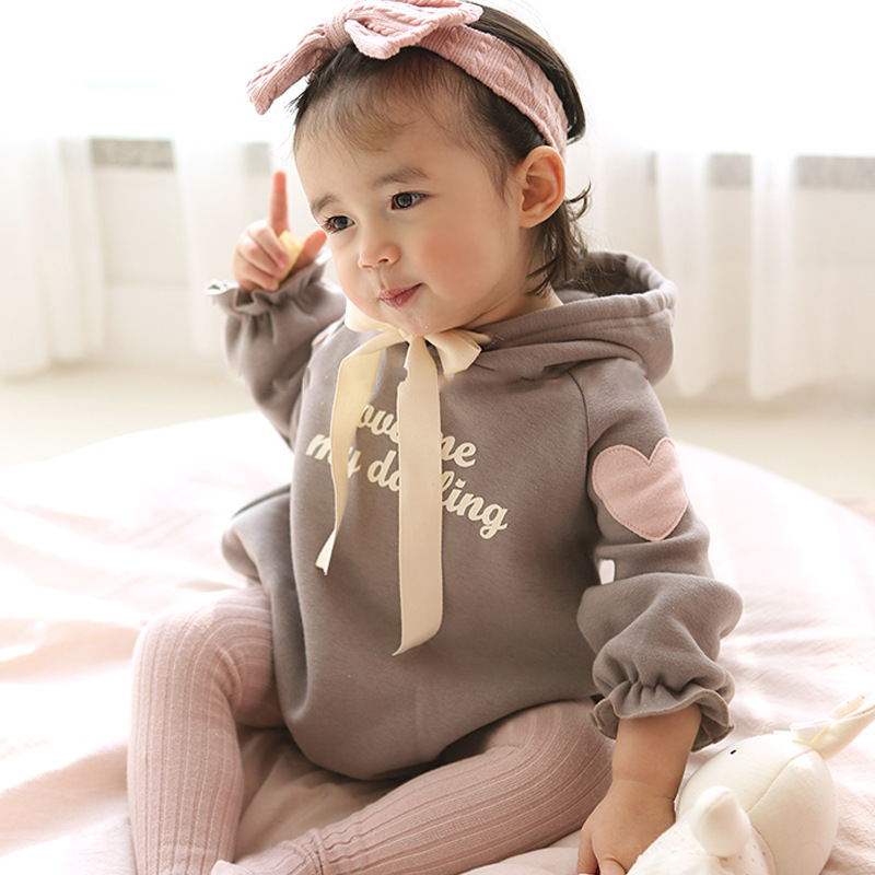 0 24M Baby Rompers Cute Long Sleeve Rompers Newborn Infant ...