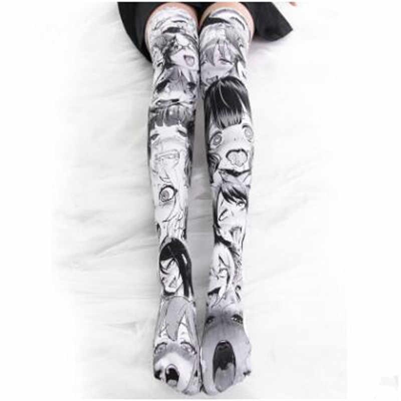 ab03534fb ... Anime Thigh High Sock Caricature Cartoon Figure Printing Stocking  Cosplay Costumes Accessories TuiWa Fancy Socks Velvet