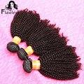 4 Bundles 7A Brazilian Afro Kinky Curly Virgin Hair No Shedding No Tangle 100% Unprocessed Brazilian Curly Weave Human Hair