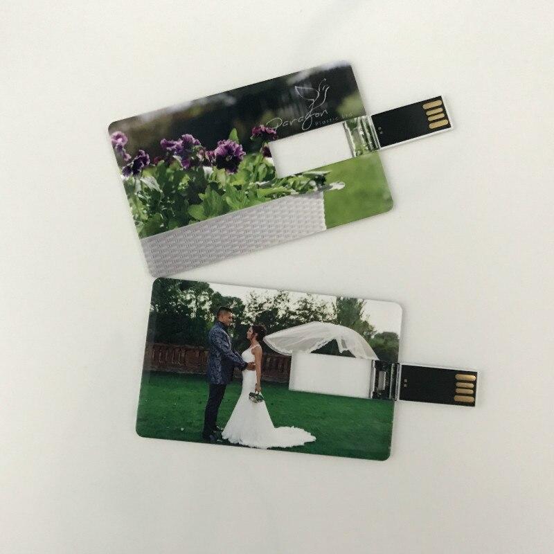 Crystal Flash Drive USB 2.0 Custom Logo Design Wedding Gift Photography