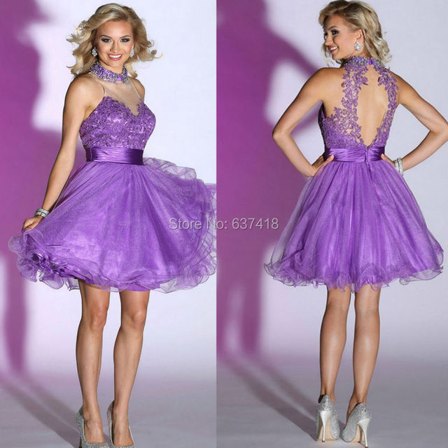 New Arrived Short Purple Cocktail Dress Homecoming Dress Short Prom