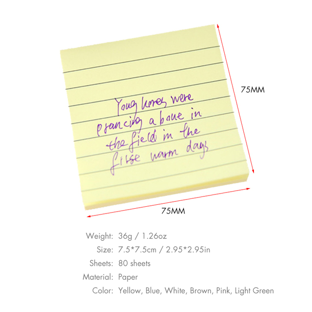 Office Cute Sticky Paper Memo Pads