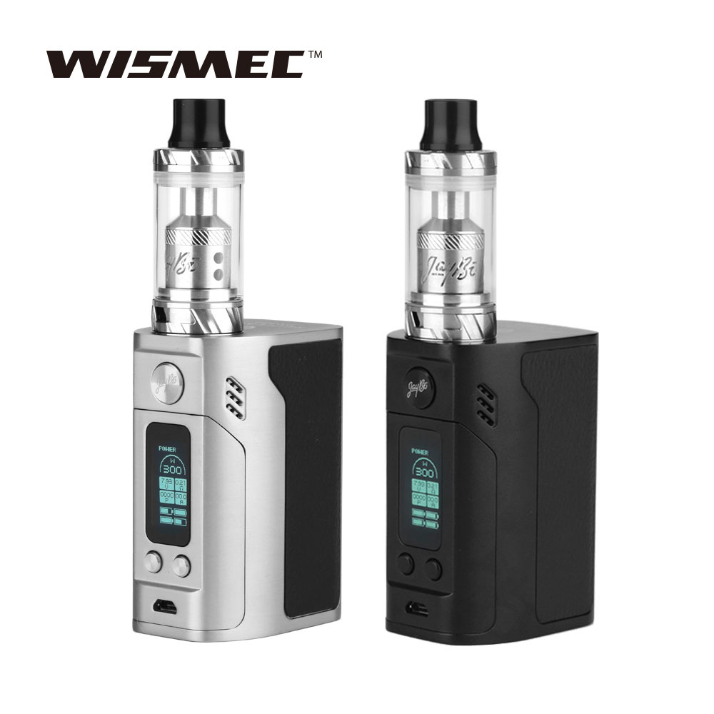 Original WISMEC RX300 TC Kit 300W for Reux Atomizer 6ml 4 x 18650 Battery No Included VS only RX300 TC Mod BOX Vape E-cigarette playtoday перчатки для мальчика playtoday