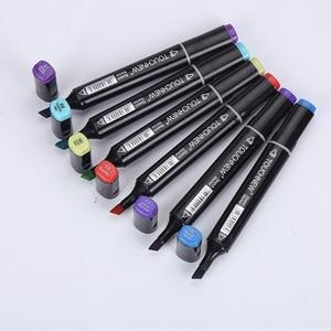 Image 2 - TOUCHNEW 80 צבע מקצועי אמנות סמני סט סקיצה סמני כפול בראשות צבע מנגה גרפיטי עט ציור אספקת אמנות