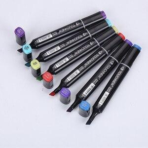 Image 2 - Touchnew 80 Màu Nghệ Thuật Chuyên Nghiệp Đánh Dấu Bộ Phác Thảo Đánh Dấu Kép Đứng Đầu Sơn Manga Đồ Bộ Bút Vẽ Nghệ Thuật Tiếp Liệu