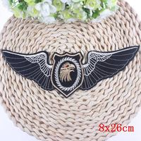 Biker Patches For Vest Punk DIY Applique Clothes Stickers Iron On Embroidery Eagle Patches Military Badge