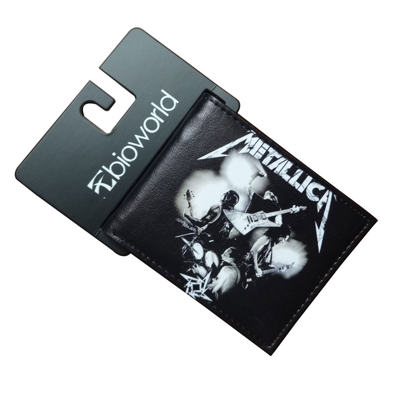 Hot Metallica Print Wallet Popular Musician Band Purse Gift Teenager Boy girl Credit Cards Bag Leather Short Wallets carteira hot game poke go wallets cute cartoon pocket monster wallets billeterafor teenager boy girls leather money bag purse
