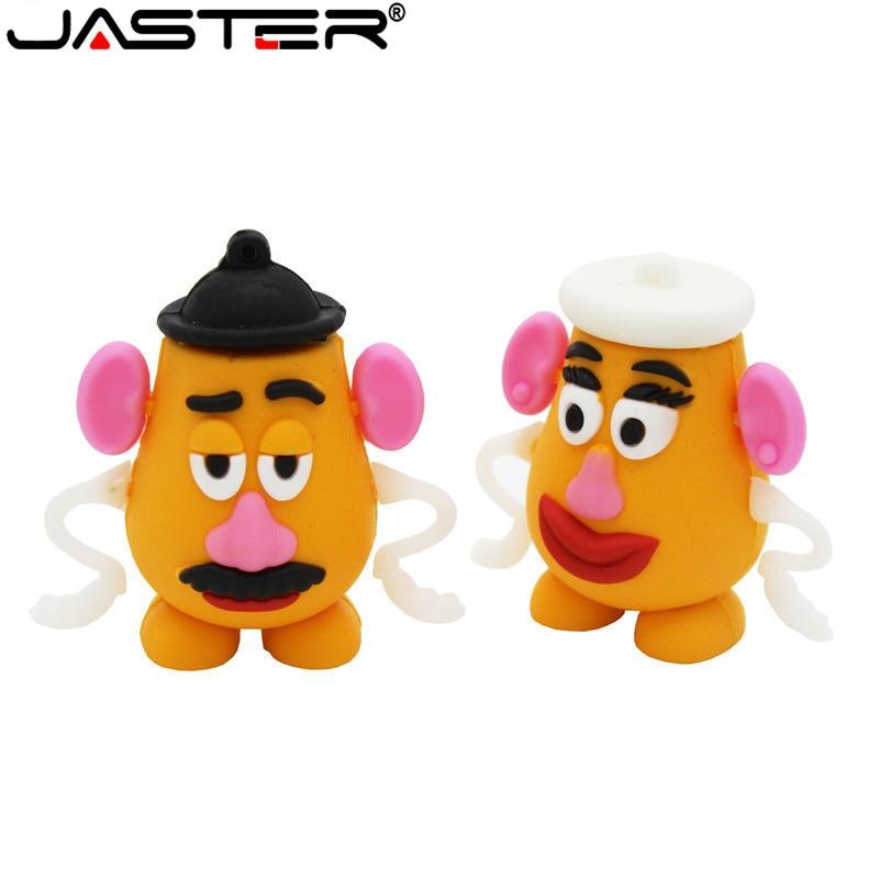 JASTER  The New Mr. Potato Head  Mrs.potato USB Flash Drive USB 2.0 Pen Drive Minions Memory Stick Pendrive 4GB 16GB 32GB Gift