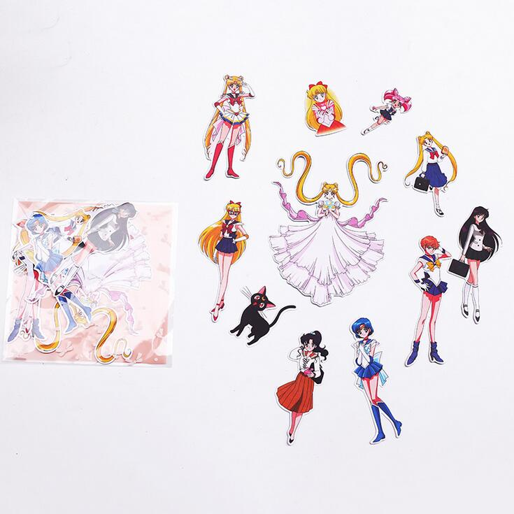 S2 Sailor Moon Beautiful Smart Girls Stickers Adhesive Stickers DIY Decoration Stickers