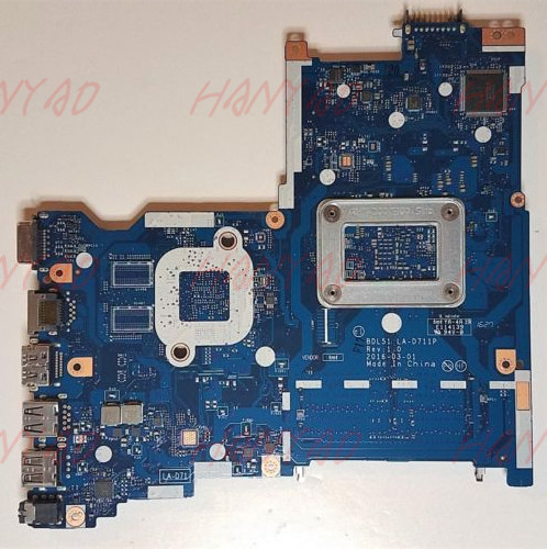 LA-D711P For HP 15-BA Series Laptop Motherboard 854964-001 With R5M1-30 2GB A8 cpu
