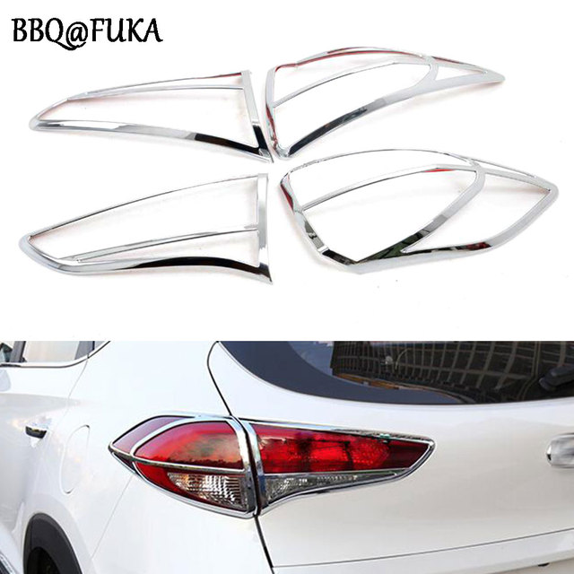 BBQ@FUKA ABS Chrome Rear Lamp Cover Trim Frame Car Tail Lamp Cover ...