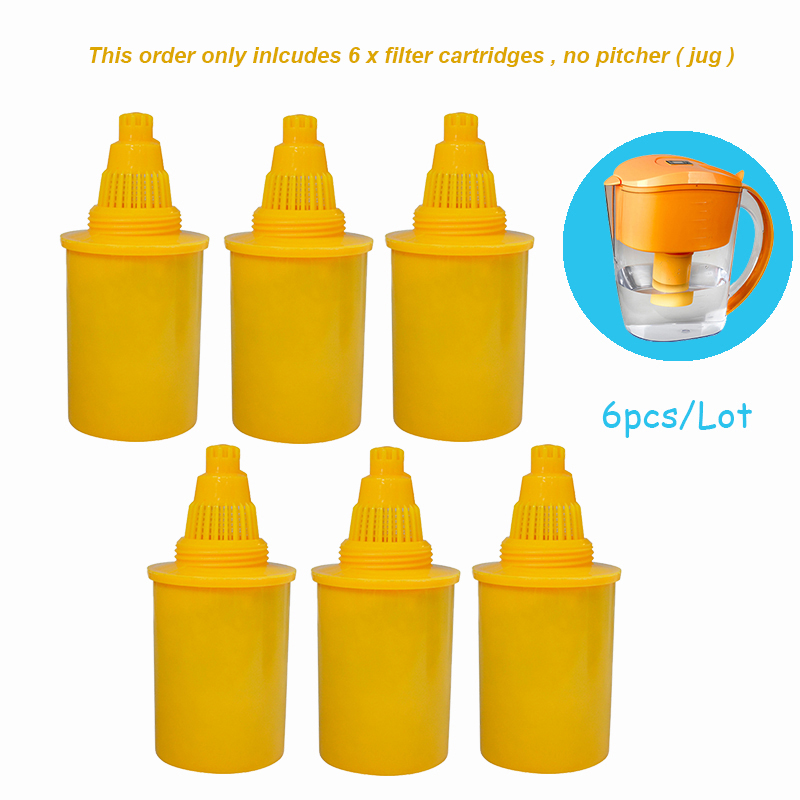 6 pieces of Replacement Filter Cartridges for Wellblue 3.5L Yellow Colour Mineral Alkaline Water Pitcher Purifier Ionizer Filter6 pieces of Replacement Filter Cartridges for Wellblue 3.5L Yellow Colour Mineral Alkaline Water Pitcher Purifier Ionizer Filter