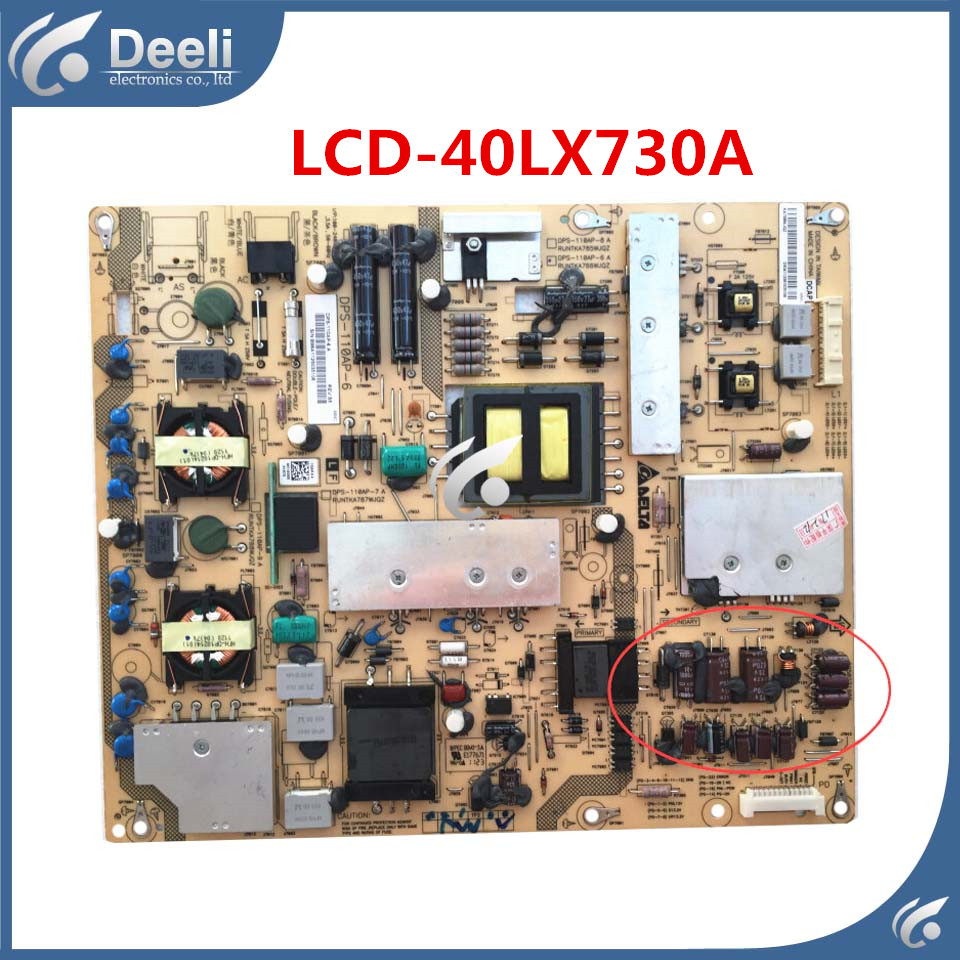 95% New for Original power supply board LCD-40LX730A RUNTKA786WJQZ DPS-110AP-6 board good working 100% compatible new board for lcd 32ge220a lcd 32z120a runtka770wjqz lip 32u0402a power supply board good working