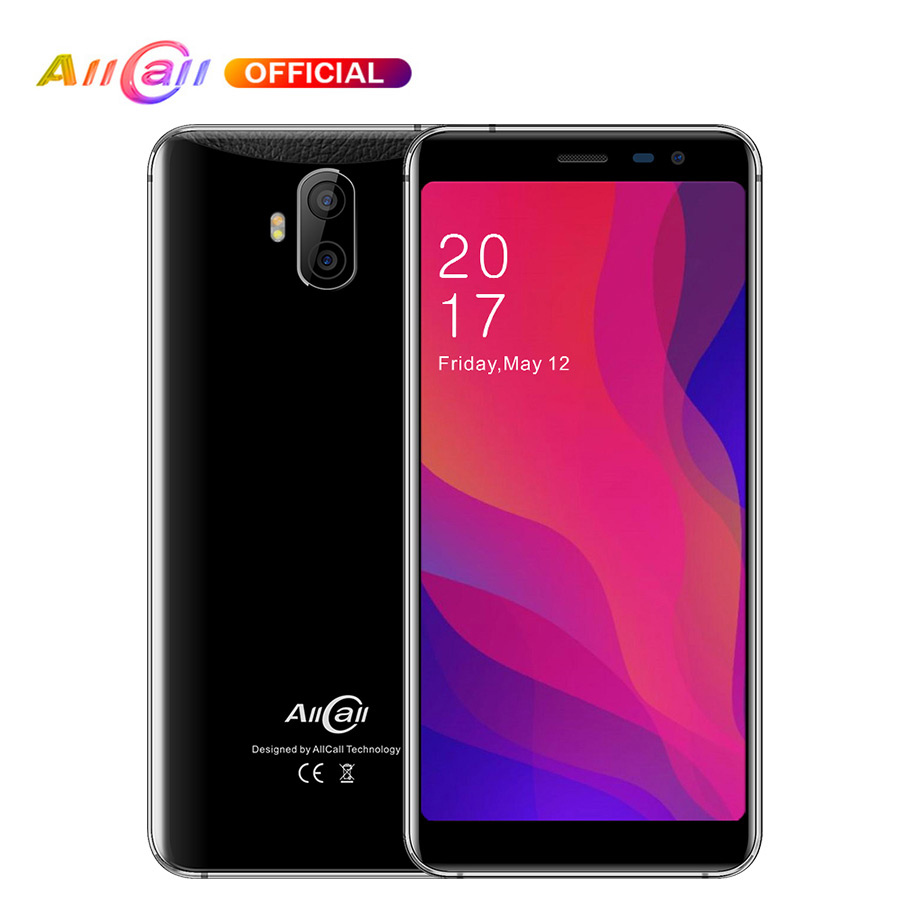 In Stock AllCall Rio X 5.5 18:9 1GB RAM 8GB ROM Android 8.1 MTK6580M Quad Core Dual Cameras 13MP+5MP 2850mAh 3G Mobile Phone