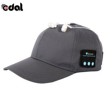 EDAL Men Women Wireless Sport Bluetooth Headphone Music Hat Cap Speaker Headset Earphones Mic