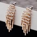 EH312 tassel ouro Cristal kpop New 2014 jewelry pendientes brincos boucles d'oreilles bijoux bijouterie stud earrings for women