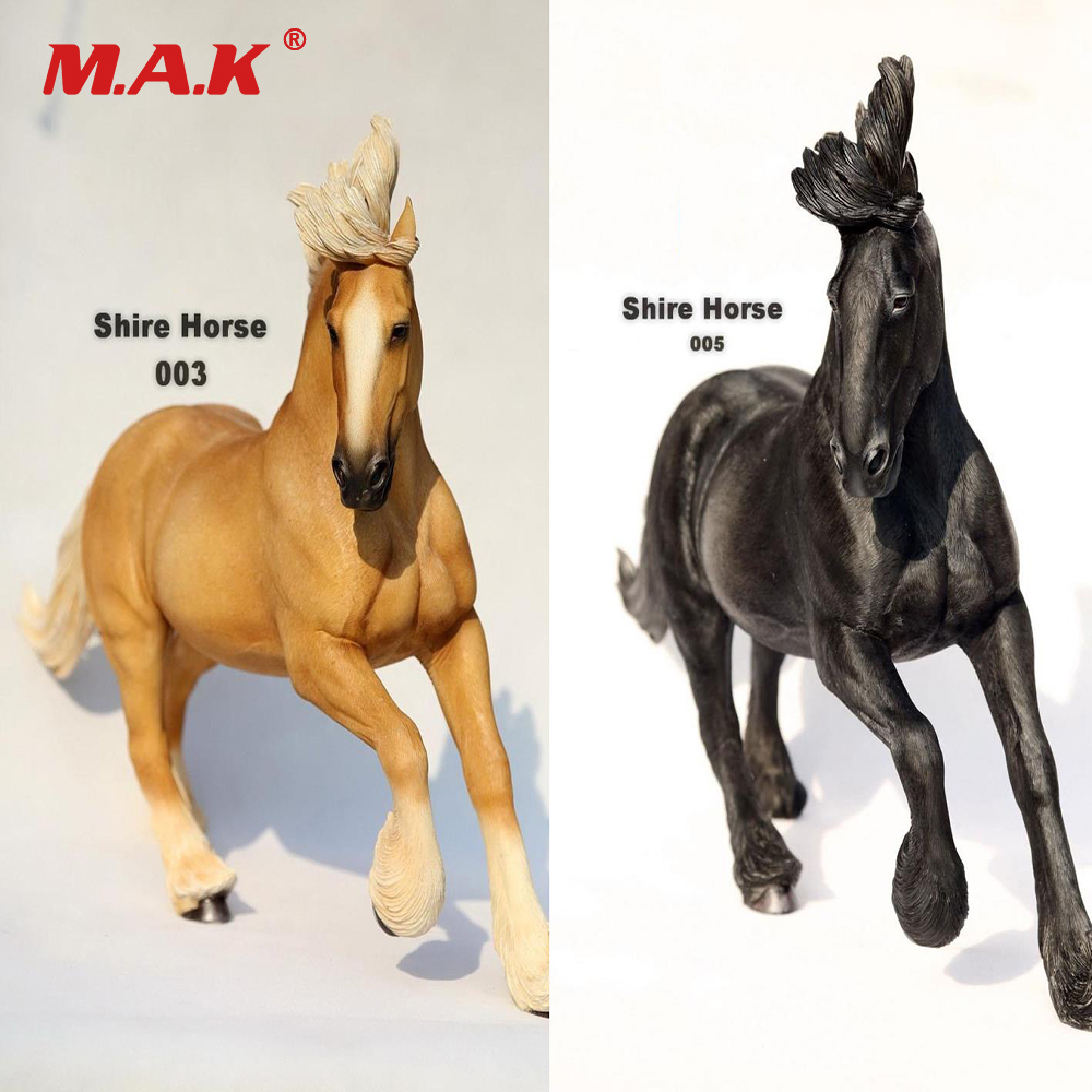 1/6 Scale SH003/SH005 British Shire War Horse Animal Resin Figure Model Toy Collection Gift for 12'' Action Figure Accessory все цены