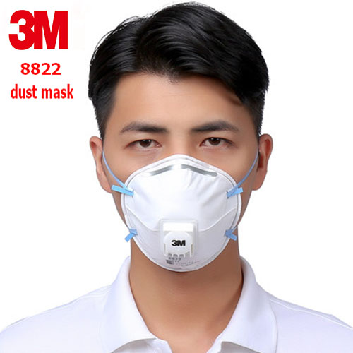 3M 8822 FFP2 respirator dust mask Cold flow valve Anti-static filter dust mask industrial safety dust smoke respirator mask картины декарт репродукция 50 50 1 арт д в6