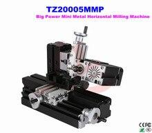 60W 12000rpm Powerful All Metal Mini Horizontal Milling Machine TZ20005MMP Big power Horizontal mill machine mini