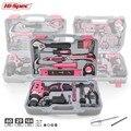 Hi-Spec розовый ручной набор инструментов с аккумуляторной дрелью отвертка ремонт дома Электроинструмент подарочный набор инструментов дамс...