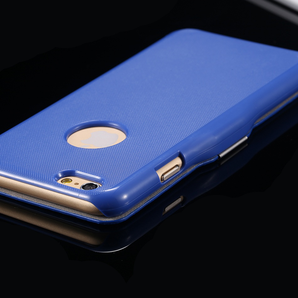 KISSCASE Ultra Thin Candy Color Magnetic Flip Phone Case For iPhone Models 2