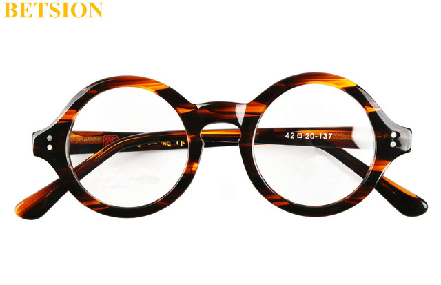 Vintage Small Round HANDMADE Optical Glasses Tortoise Eyeglasses ...
