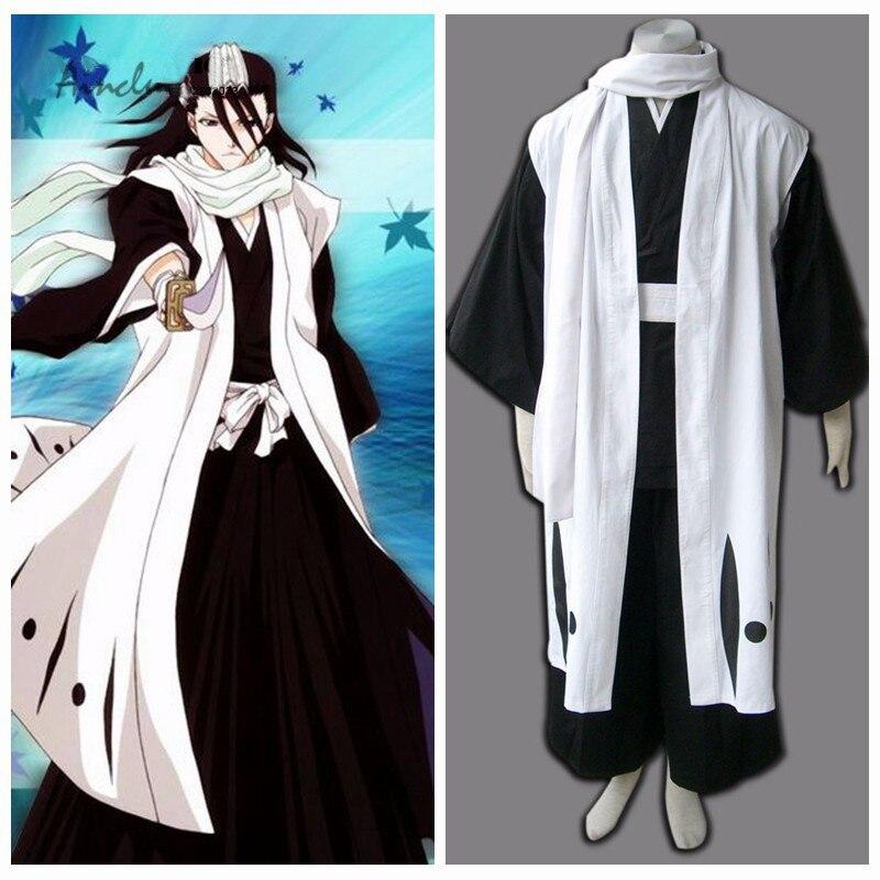 Ainclu Adult Bleach Kuchiki Byakuya The team six team Robe Cosplay Costume for Halloween Cotume Tailor-made/Customize for adults
