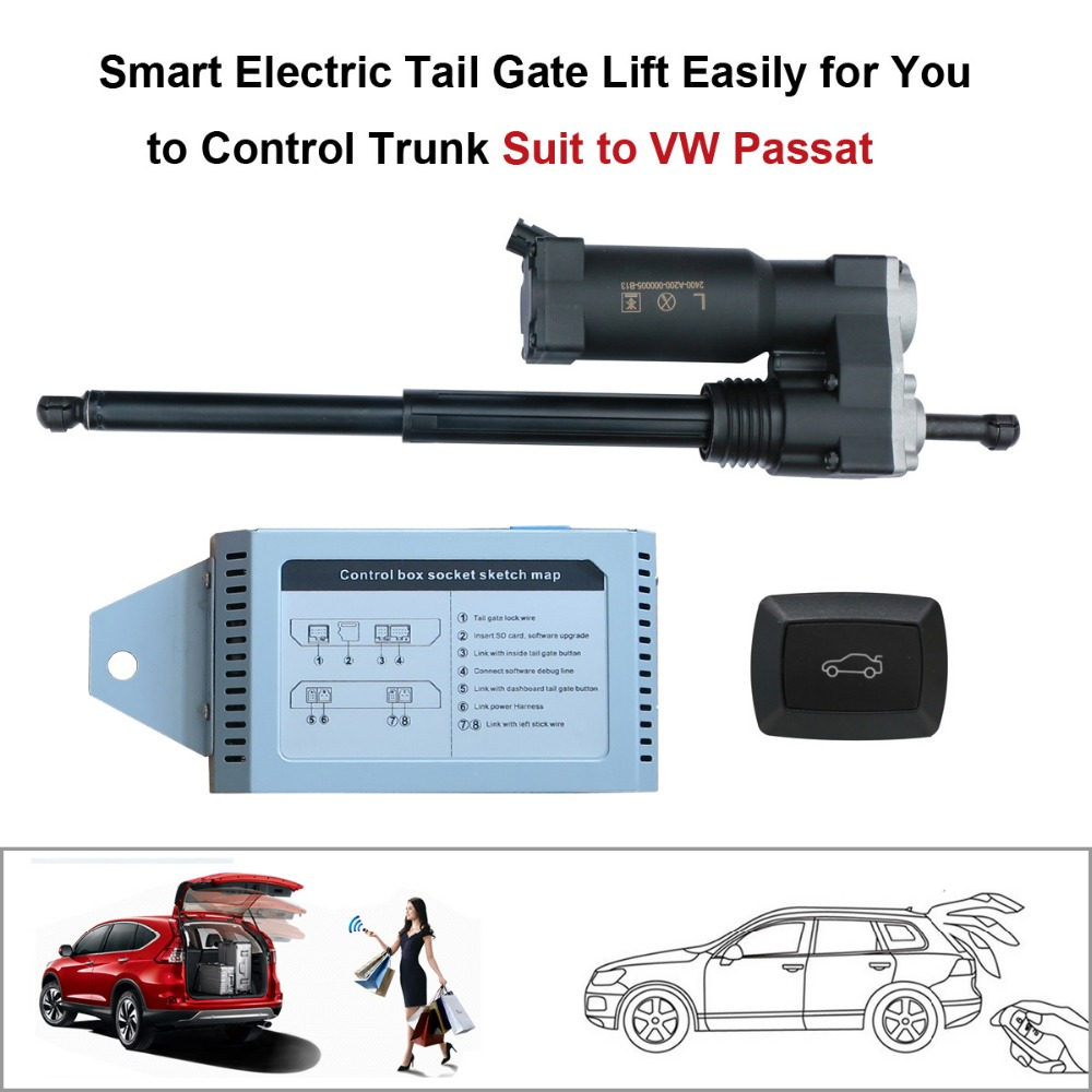 Smart Auto Elétrica Elevador Porta Traseira para Volkswagen Passat Unidade de Controle por Controle Remoto Assento Cauda Portão Botão Definir a Altura de Evitar pitada