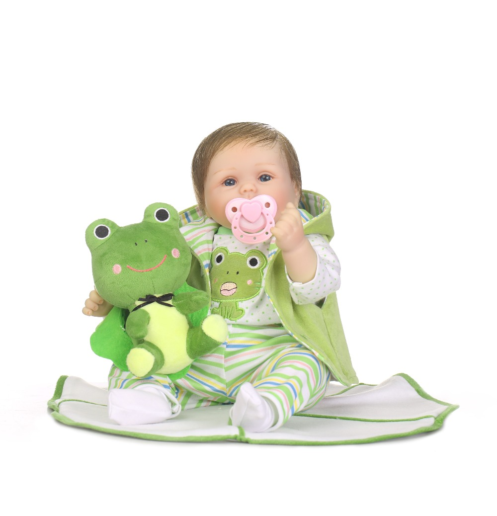 cute New toy girls 22 inches Toddler Doll Bebe baby reborn dolls for sale Brinquedos Reborn Baby Doll in Princess Dress Juguetes cute insect doll toy