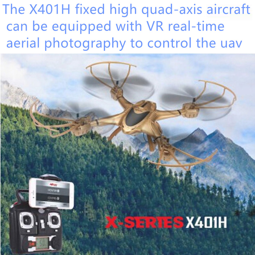 wifi fpv rc drone X401H Altitude Hold 2.4GHz 4CH 6 Axis Gyro rc Quadcopter Air Pressure High Headless APP phone control drone mjx x601h wifi fpv 720p cam air pressure altitude hold 2 4ghz app control 4 channel 6 axis gyro hexacopter 3d rollover